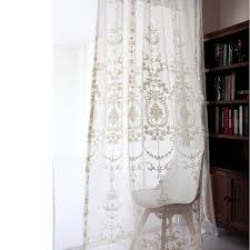 embroidered sheer curtains european palace designs beige window tulle home decor flower pattern luxury voile curtains jpg