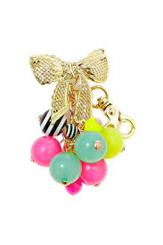 betsey johnson bow beads keychain from new york by let u0027s bag it