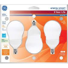 cfl ceiling fan bulbs ge energy smart cfl ceiling fan bulb 11w candelabra base 3pk
