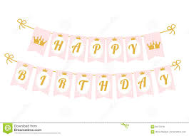 Happy Birthday Flags Cute Pennant Banner As Flags With Letters Happy Birthday In