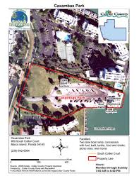 Barefoot Landing Map Beach And Boat Parks Collier County Fl