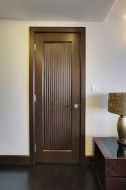 interior door custom single solid wood with walnut finish