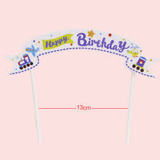 Baby Flag Happy Birthday Banner Flag Cupcake Cake Topper Cake Flags Baby