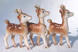 Christmas Decorations Red Deer by Christmas Decorations Lot Plastic Deer Red Velvet Reindeer