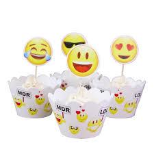 wedding cake emoji aliexpress buy 24pcs emoji crown football cupcake toppers