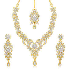 gold sets images sukkhi trendy gold plated australian diamond studded