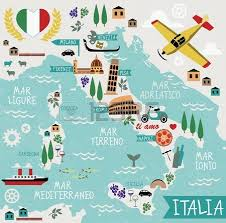 italy map map of italy royalty free cliparts vectors and stock