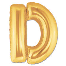 balloon letters letter d gold foil balloon 40 inch inflated balloon shop nyc