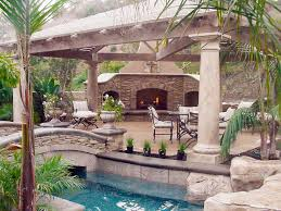 backyards with pools