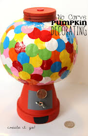 No Carve Pumpkin Decorating Ideas No Carve Pumpkin Decorating Ideas Diy Bubble Gum Machine Pumpkin