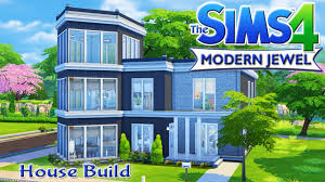 Modern House by The Sims 4 House Build Modern Jewel Family Home Youtube
