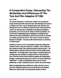 theme essay for 1984 1984 essays essay theme totalitarianism international baccalaureate