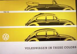 1961 1962 volkswagen color guide sales brochure paint chips