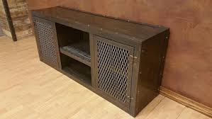 in stock 001 modern industrial media console cabinet in ebony