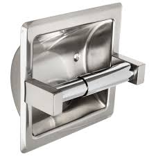 recessed toilet paper dispenser polished stainless steel