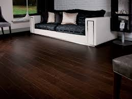 chocolate wood living room traditional with wood flooring