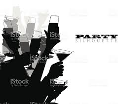 martini silhouette party silhouette stock vector art 160480232 istock