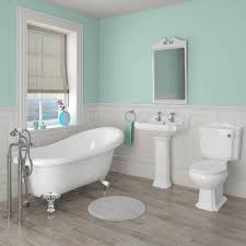 oxford traditional free standing roll top slipper bath suite at