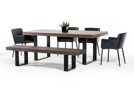 modrest lola modern walnut dining table