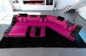 sofa mit led beleuchtung sofa unique breathtaking pink sectional sofa for wonderful
