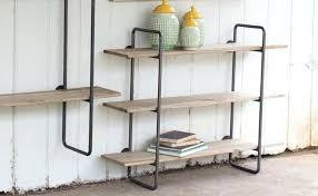 metal and wood bookcase reclaimed target industrial bookshelf