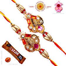 buy rakhi online rakhi set two rakhi set rakhis online br 227 dr