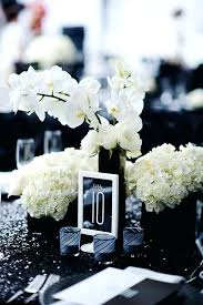 black and white centerpieces black and white decorations for wedding black and white