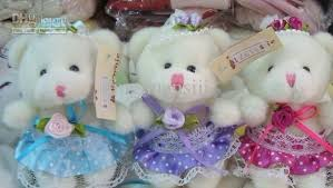 2018 wedding decorations 8cm plush teddy bears wedding limousine