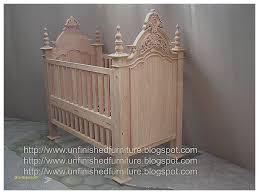 unfinished baby crib awesome unfinished mahogany furniture