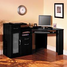 Small Oak Computer Desk Funiture Corner Office Desk Ideas Using Corner Black Oak Wood