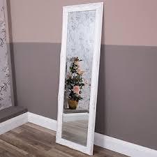 Tall Wall Mirrors Tall Slim White Wall Mirror Full Length Shabby Vintage Chic