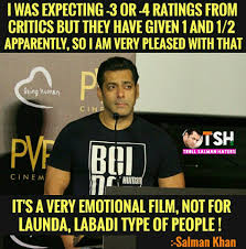 Tight Shirt Meme - tight slap on critics salman ko fark troll salman khan