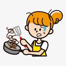 apprendre a cuisiner gratuitement la fille d apprendre à cuisiner illustration des caractères des