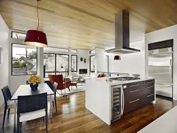 design minimalist style open plan kitchen dining room rectangle