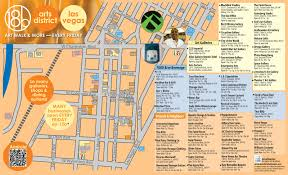 Fremont Street Las Vegas Map by Las Vegas Arts And Culture New Arts District Map Ready Just In