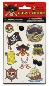 pirate bounty tattoo set