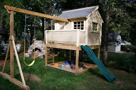 Backyard Swing Set Plans by How To Organize The Backyard For Kids Playhouse Plans
