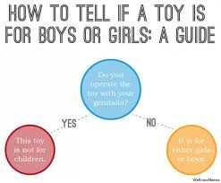Sex Toy Meme - how to tell if a toy is for boys or girls memes pinterest