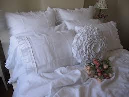linen ruffle euro pillow sham ivory white beige gray oatmeal