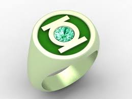 green lantern wedding ring crafted green lantern ring by paul michael design