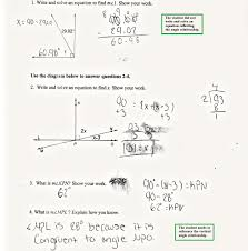 find the angle measure students are asked to use knowledge of