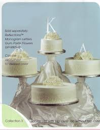 4 tier cake stand 4 tier cake stand tree dessert wedding cupcake w satin staggered