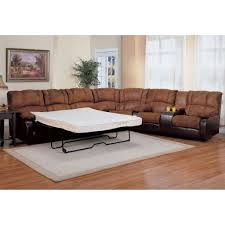 Small Sectional Sleeper Sofa by Decorating Brown And Black Leather Sectional Sleeper Sofa On