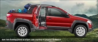 who makes dodge trucks ram 700 a fiat strada truck for mexico and the