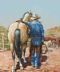 artist roger lanford along the dusty trail true friends