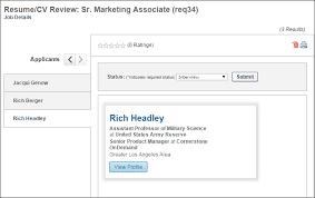 Internal Resume Resume Cv Review Page