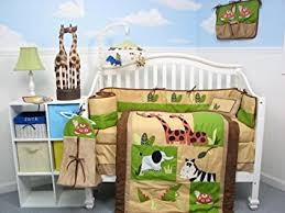 Nursery Bed Set Boutique Safari Jungle Animals Baby Crib Nursery