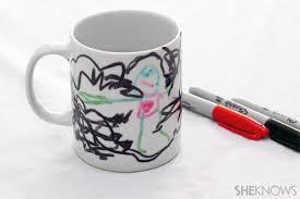 Decorating Porcelain Mugs Homemade Mother U0027s Day Mug Crafts