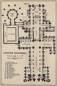 cathedral floor plan lincoln cathedral floor plan lincolnshire 1939 vintage map