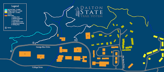 Rice Campus Map Dalton State About Dalton State Campus Hiking Trail Map